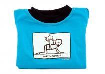 Dětské tričko Mayaka s dlouhým rukávem Horseriding - tyrkysové