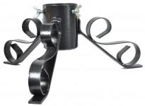 Stojánek vánoční kovový - černý metalický 64 mm - VÝPRODEJ