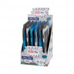 Ring kuličkové pero modrá/šedá, 36 ks / balení