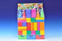 Stavebnice kostky velké 30ks plast v sáčku