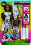 Barbie D.I.Y.crayola vybarvování šatů černoška