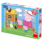 Puzzle 24 dílků Peppa pig: Slepičky