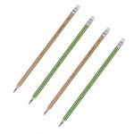 Trojhranná tužka HB BEZDŘEVÁ 2 barvy z pryskyřice, s gumou,TUBA 36 ks