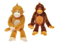 Opice plyšová dlouhé nohy 60 cm - mix barev