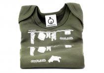 Dětské tričko Mayaka s dlouhým rukávem Online/offline - khaki Vhodné pro věk 12-18 měsíců - VÝPRODEJ