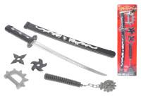 Meč samurajský v pouzdru 59 cm s doplňky