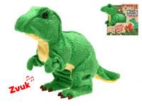 Tyranosaurus Rex plyšový 18 cm na baterie se zvukem chodící