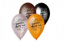 Balonek/Balonky nafukovací 11'' průměr 30cm Šťasný Nový rok