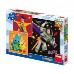 Puzzle 3x55 dílků Toy Story 4