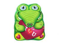 Polštářek plyšový krokodýl 35x30 cm