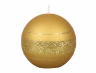 Svíčka vánoční FENIX KOULE metalická matná d8cm