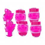 Spokey Aegis 3-dílná sada dětských chráničů růžové velikost L