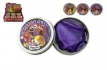 Hmota/modelína 50g inteligentní metalická 8cm mix barev v plechové krabičce - mix variant či barev