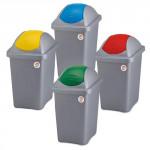 koš odpadkový výklopný MULTIPAT 30l obdélníkový ŠE/ČRV plastové víko