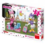 Puzzle 24 dílků Minnie v Paříži