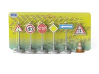 Sada dopravního značení 7 ks - mix barev