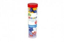 Kolíčky+kloboučky plast k mozaikám modré+mix 4,5x16cm