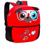 Batoh neoprenový - dětský pejsek červený