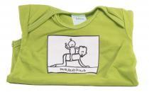 Dětské body Mayaka s krátkým rukávem Horseriding - zelené Vhodné pro věk 3-6 měsíců - VÝPRODEJ