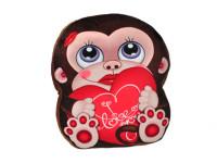 Polštářek plyšový opice 35x30 cm