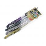 Metal gelové pero-mix barev - 4ks/sada