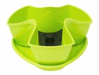 Květník COUBI s podmiskou plastový světle zelený d30cm