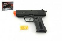 Pistole se zásobníkem na kuličky 17cm + kuličky plast