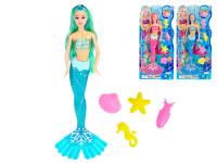Mořská panna 36 cm s doplňky - mix barev - VÝPRODEJ
