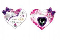Dárková sada DUO Briliantina náušnice + prstýnek v krabičce na kartě 17x15cm - mix variant či barev