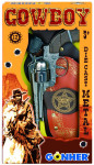 Kovbojská sada - revolver + šerifská hvězda kovový 12 ran