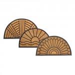 rohož guma+kokos 45x75cm, půlkruh - mix variant či barev