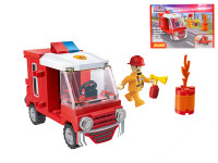 EDUKIE stavebnice hasičské auto 71 ks + 1 figurka
