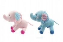 Slon barevný plyš 25cm - mix barev
