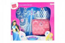 Sada krásy princezna korunka+kabelka+doplňky plast
