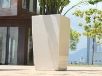 Samozavlažovací květináč GreenSun ICES 30x30 cm, výška 59 cm, bílý