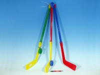 Hokejka plastová s pukem 74cm - mix barev
