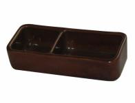Krmítko keramické dvoudílné 24x10x6cm