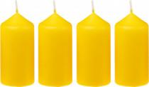 Svíčka adventní 40x75 mm - žlutá - 4 ks