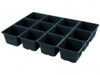 Sadbovač MULTI PL plastový černý 8,5x8,5cm 12ks