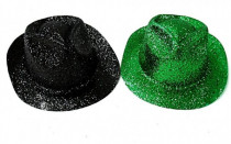 Klobouk party se třpytkami plast 30cm karneval - mix barev
