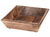 miska čtverc. 20x20x6cm dřevo