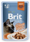 Brit Premium Cat kaps. Delicate Fillets in Gravy with Turkey 85 g