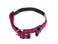 Obojek nylon soft Grip - tmavě růžový Nobby 1,5 x 25-35 cm