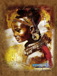 Africká kráska 1000d
