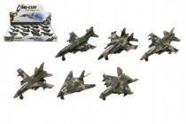 Letadlo/stíhačka vojenská kov/plast 9cm