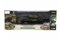 Tank RC plast 33cm T34/85 27MHz na baterie+dobíjecí pack se zvukem a světlem