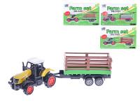 Traktor s vlečkou 16 kov - mix variant či barev