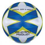 Spokey MVOLLEY Volejbalový míč modrý rozm. 5