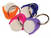 přívěšek na klíče ŽETON plastový (25ks) - mix barev