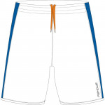Spokey Fotbalové šortky bílo-modré vel. XL